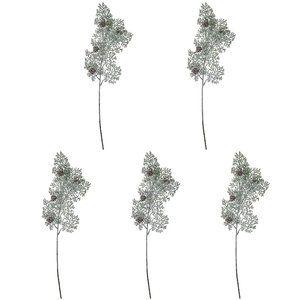 "Set of 5 24"" Cedar Stems with Mini Pinecones"